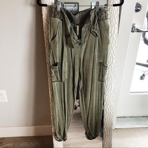 High waisted cargo pants by Free People